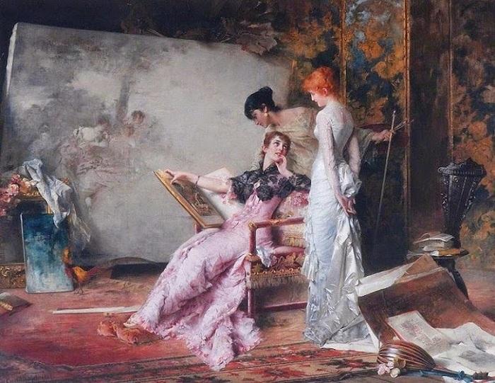 Конрад Кизель В студии. 1885 г.